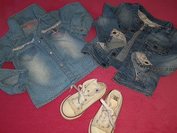 86-92_Джинсовые куртка и рубашка