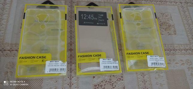 3 Capas Novas em caixa para telemóvel Xiaomi Redmi Note 9