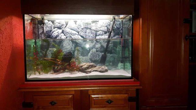 Akwarium 140 litrów, filtr