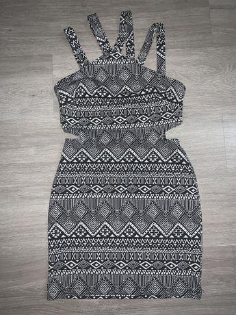 Sukienka wzorki azjatyckie r. S