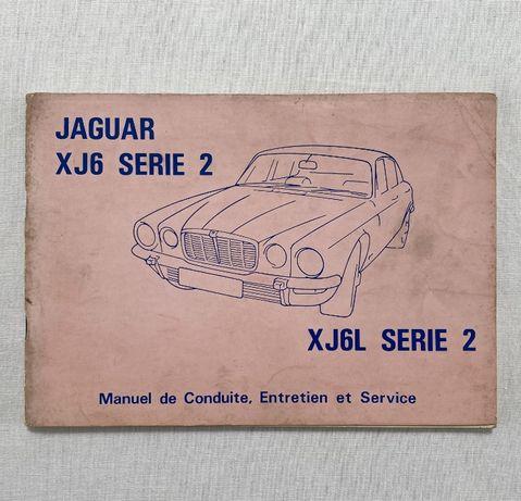 Manual do proprietário Jaguar XJ6 Serie 2 1973