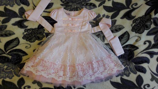 Нарядное Новогднее платье для принцессы на 1-4 года