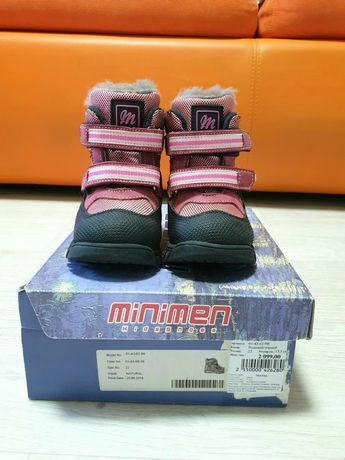 Зимние ботинки minimen детские на девочку