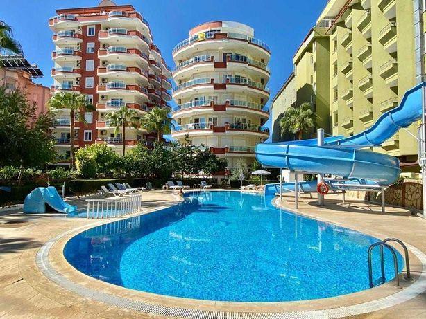 Апартаменты 2+1 на первой береговой линии с видом на море Аланья