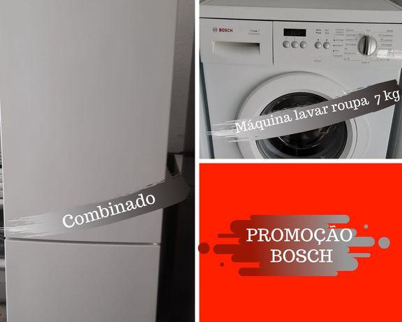 PROMOÇÃO BOSCH Frigorífico combinado +máquina de lavar 7kg