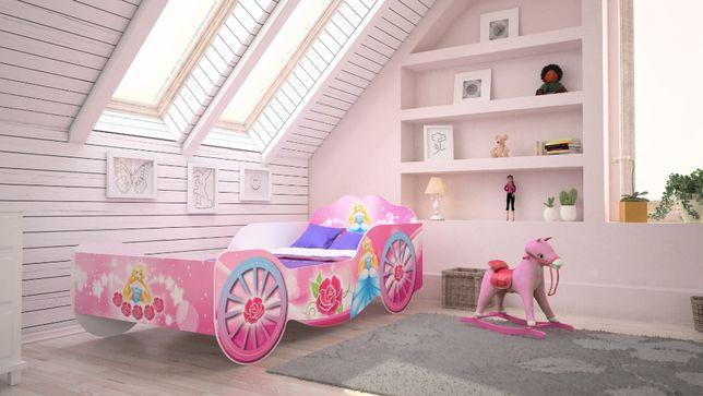 Łóżko dziecięce KARETA 160x80 z materacem Darmowa Dostawa!