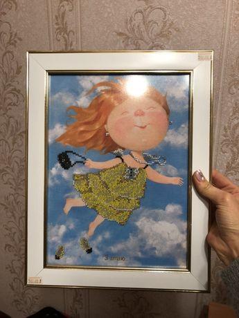 Картина «Я летаю» Гапчинская бисер