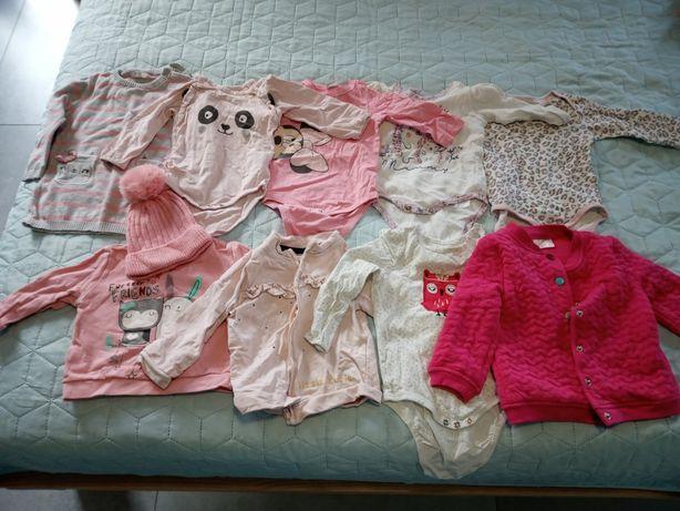 Ubranka ( duża paka) dla dziewczynki rozm od 56 do 74