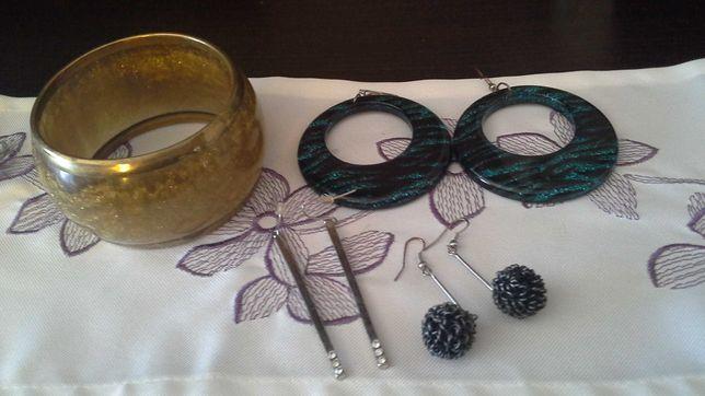 Biżuteria kolczyki i bransoletka