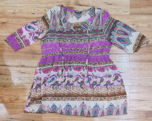 OKAZJA bluzka tunika fioletowa zwiewna delikatna luzna