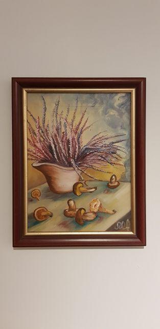 Obraz recznie malowany 30x40 cm/Grzybobranie/ wroclaw
