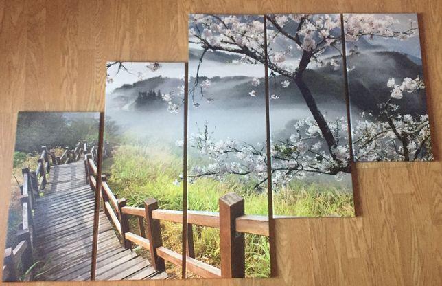 obraz podzielony na 5 części krajobraz