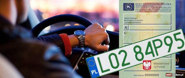 Rejestracja pojazdów,tłumacz,akcyza,mienie przesiedlenia,OC,AC