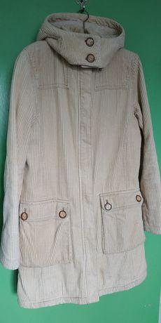 Оригинальна весенне-осенняя вельветовая куртка-парка на подкладке.