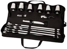 Набор для пикника с шампурами BST на 6 персон из нержавейки
