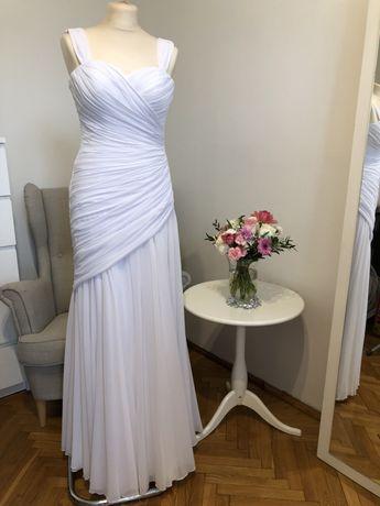 Piękna muślinowa suknia ślubna 34 36