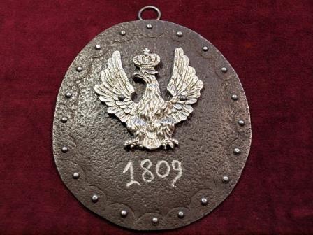 Ryngraf Księstwo Warszawskie 1809 roku, blacha ok. 200 lat, do szabel