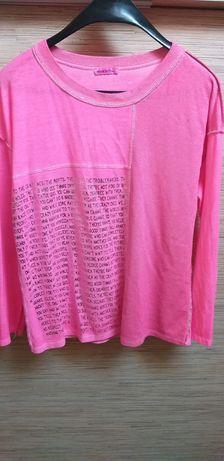 Sweterek cienki rożowy