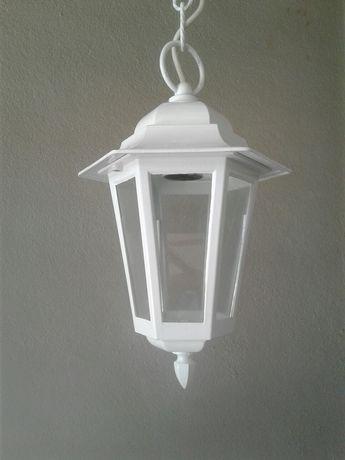 Lanterna candeeiro exterior jardim branco