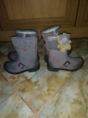 Сапоги чоботи кожа зима