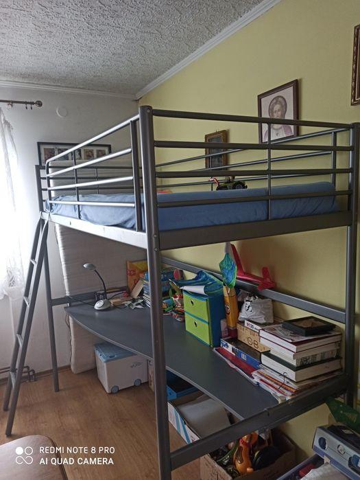Lozko na antresoli z biurkiem Ikea Luzino - image 1