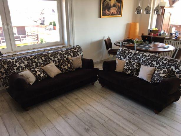 Kanapy sofy wypoczynkowe komplet + poduszki