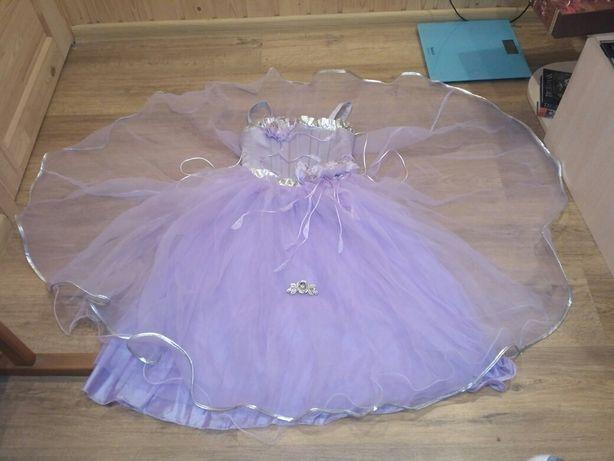 Фиолетовое выпускное нарядное праздничное платье