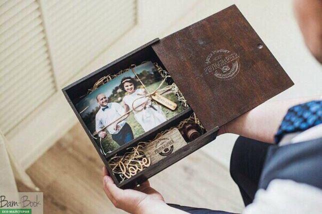 Дерев'яні коробки для фото