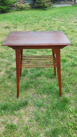 Drewniany stolik RTV pod telewizor TV vintage antyk klasyk