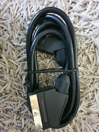 (Dostawa 8.49zl) Scart kabel nowy nie używany