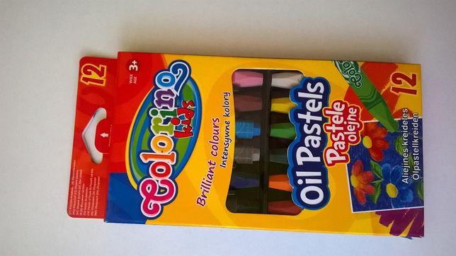 Kredki pastele olejne 12 kolorów NoWe