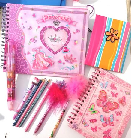 Material Escolar Menina Côr de Rosa Princess