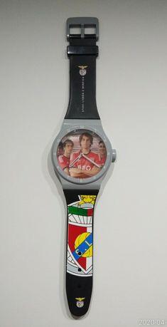 Relógio de parede Benfica para decoração grande (91 cm X 20 cm)