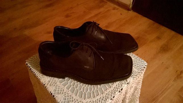 Męskie buty półbuty pantofle NORD roz. 42 materiał i skóra naturalna