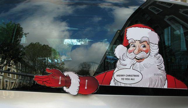 autocolantes pai natal para vidro traseiro