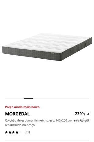 Colchão de espuma IKEA - MORGEDAL (140x200x18)