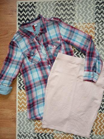 Koszula H&M spódnica tom&rose