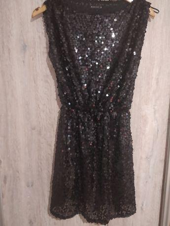 Sukienka Mohito czarna cekiny XS 34