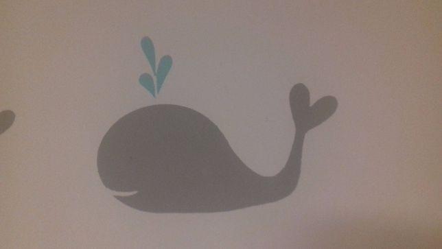szablon malarski delfinki do pokoju dziecięcego