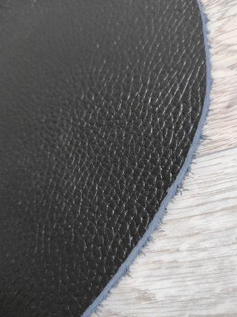 Натуральная кожа Флотар черного цвета