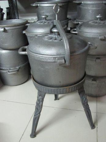 Kociołek żeliwny10 l Duży Garnek na stojaku zakręcany Producent