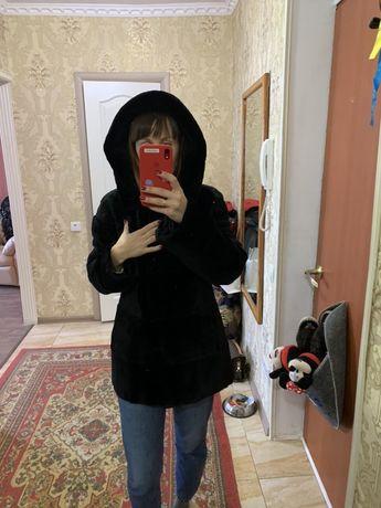 Шуба с капюшоном, бобер, дизайн-студии Марии Волосовской