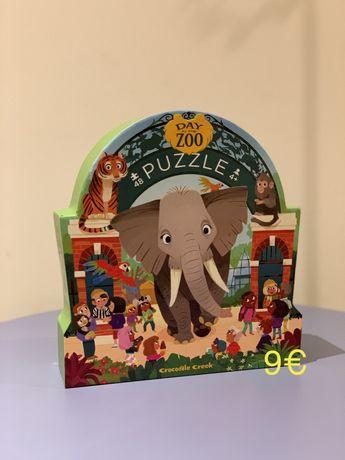 Puzzle 48 pcs Day at the Zoo - novo e selado