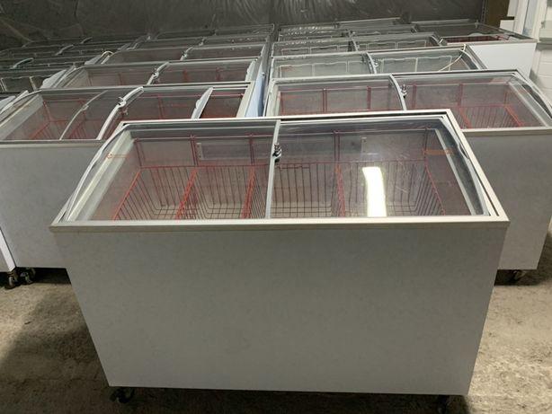 Морозильна камера скриня під скло ларь вітрина холодильник