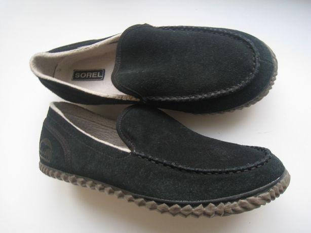 мужские мягкие кожаные туфли мокасины на широкую ногу, р.44 - 29см