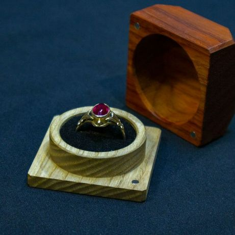 Футляр для украшений из дерева/ коробочка деревянная
