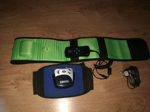 Pas masujący wibrujący z funkcją grzania + pas do elektrostymulacji