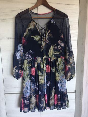 NOWA sukienka damska w kwiaty rozmiar S/M