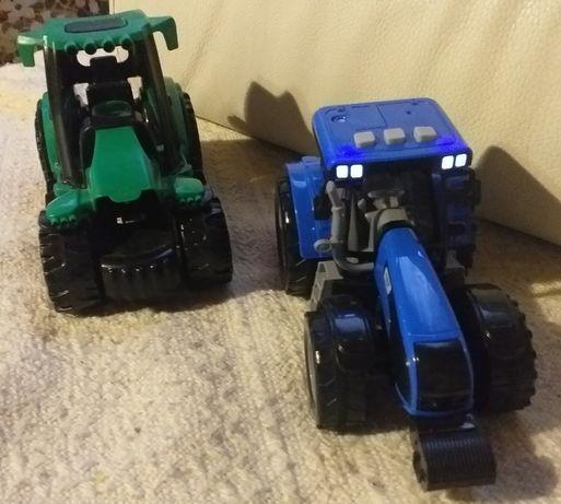 Dwa traktory dzwiek swiatla