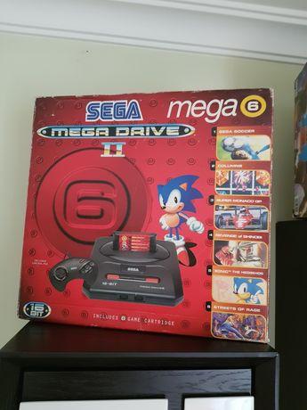 Sega mega drive 2 completa em caixa